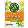Traditional Medicinals, Organic Belly Comfort, перечная мята, без кофеина, 16чайных пакетиков, 28г (0,99унции)