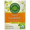 Traditional Medicinals, Organic Gas Relief, без кофеина, ромашка и мята, 16чайных пакетиков в упаковке, 24г (0,85унции)