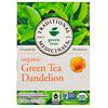 Traditional Medicinals, Органический зеленый чай с одуванчиком, без кофеина, 16 пакетиков, 1,13 унции (32 г)