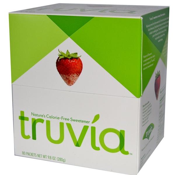 Truvia, Безкалорийный природный подсластитель, 80 пакетиков по 3,5 г (Discontinued Item)