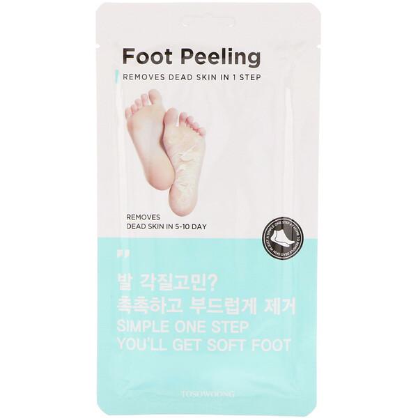 Пилинг для ног, стандартный размер, 2 шт., по 20 г каждый