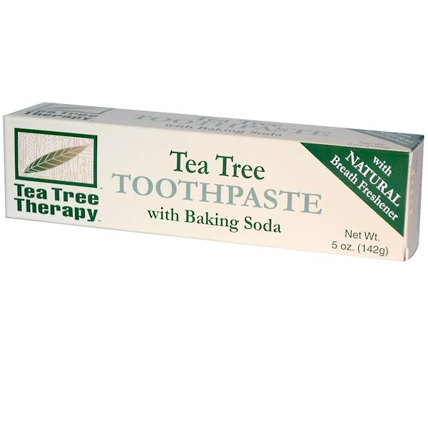 Tea Tree Therapy, Зубная паста с экстрактом чайного дерева и пищевой содой, 142г