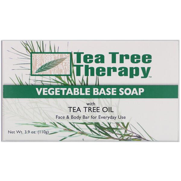 Мыло на растительной основе, с маслом чайного дерева, брусок 110 г (3,9 унции)