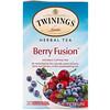 Twinings, Травяной чай, смесь ягод, без кофеина, 20 отдельных чайных пакетиков, 1,41 унц. (40 г)