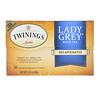 Twinings, Lady Grey Tea, Naturally Decaffeinated, 20 Tea Bags, 1.41 oz (40 g)