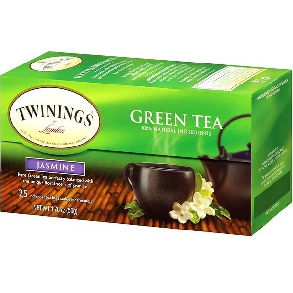 Зеленый чай , жасмин 25 чайных пакетиков, 1.76 унции (50 г)
