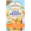 Twinings, Чай со вкусом персика для приготовления холодного чая, 20 пакетиков, 1.41 унций (40 г)