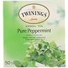 Twinings, Травяной чай, чистая перечная мята, без кофеина, 50чайных пакетиков, 100г