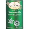 Twinings, Christmas Tea, черный чай, 20чайных пакетиков, 40г (1,41унции)