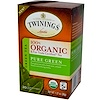 Twinings, 100% органический зеленый чай, чистый зеленый чай, 20 пакетиков, 1,27 унции (36 г)