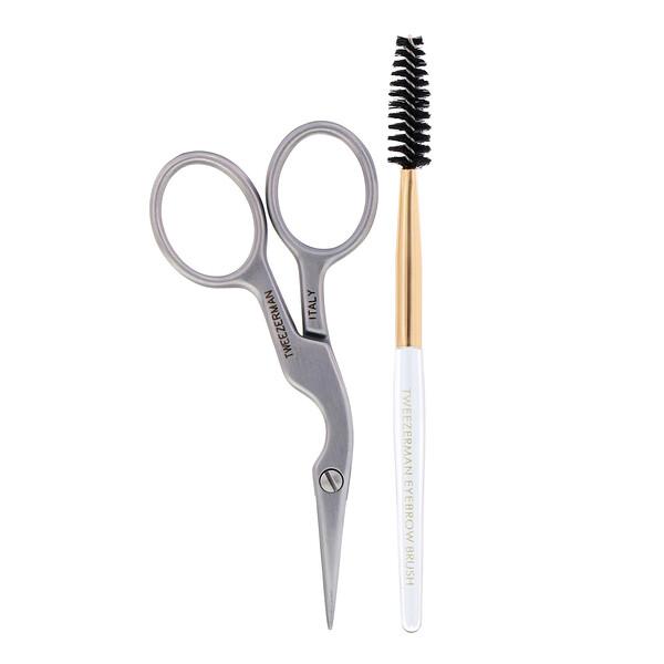 Tweezerman, Brow Shaping Scissors & Brush, 1 Count (Discontinued Item)
