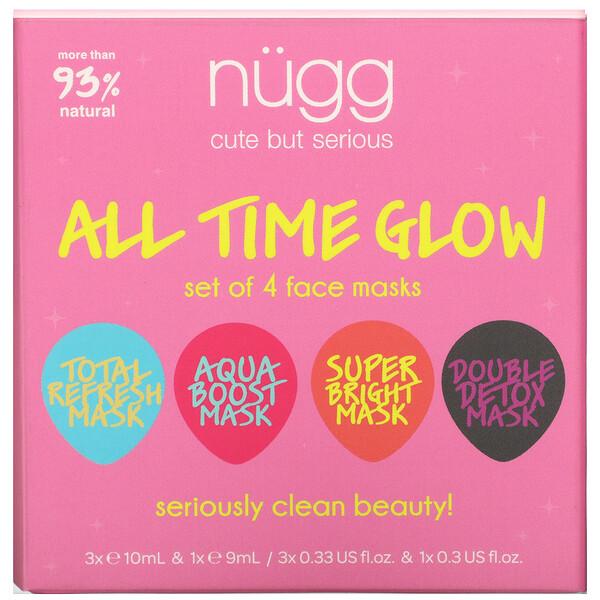 Nugg, All Time Glow, Face Mask Set, 4 Masks