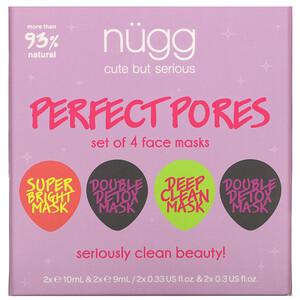 Nugg, Perfect Pores, Face Mask Set, 4 Masks