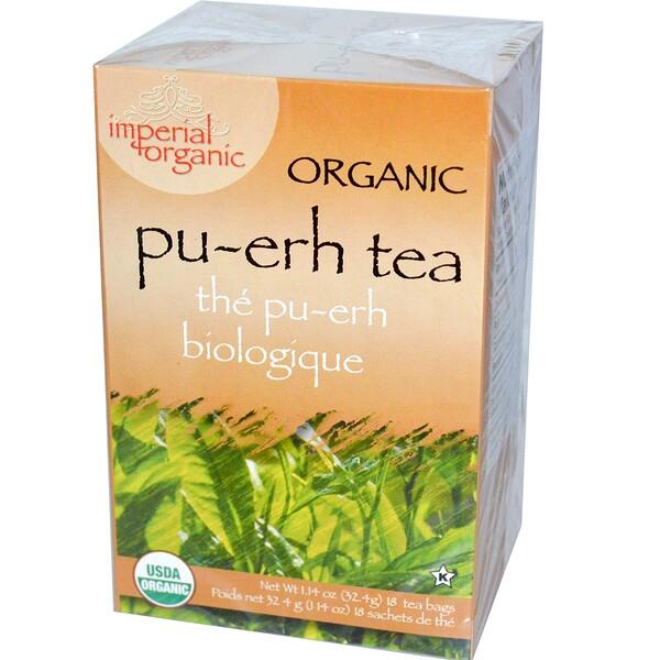 Органический чай пуэр, 18 чайных пакетиков, 1,14 унции (32,4 г)