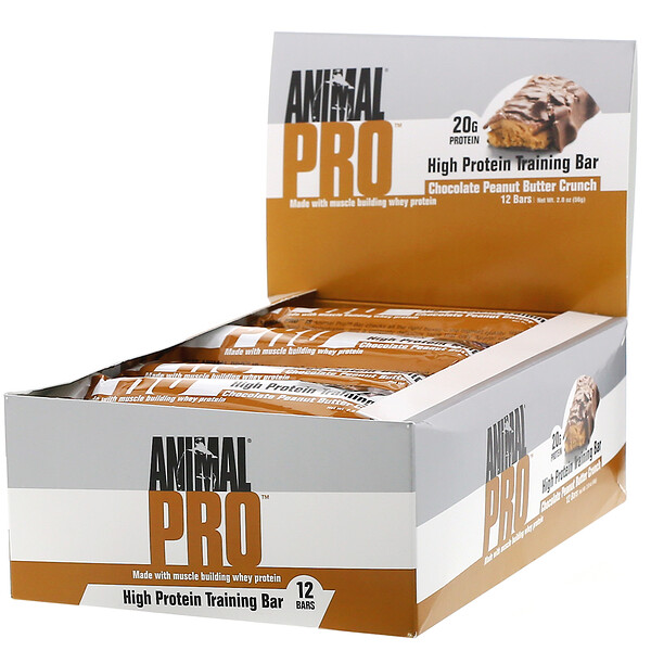 Animal Pro, High Protein Training Bar, Chocolate Peanut Butter Crunch, 12 Bars, 2.0 oz (56 g)
