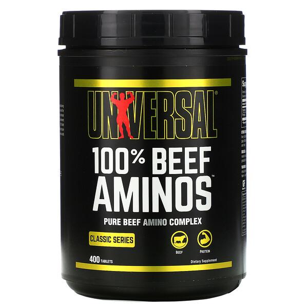 Universal Nutrition, 100 % Beef Aminos, 400 таблеток