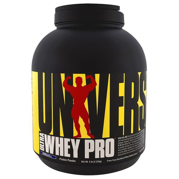 Ultra Whey Pro, протеиновый порошок со вкусом ванильного мороженого, 2,27 кг (5 фунтов)