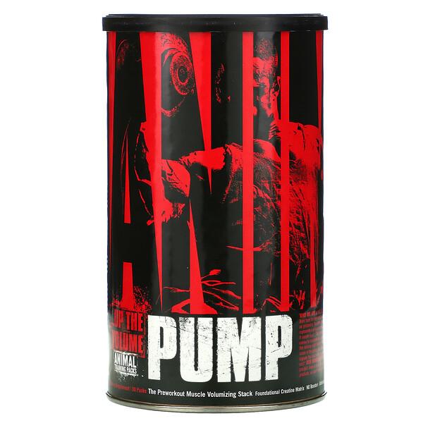 Animal Pump, комплекс для увеличения объема мышц, для приема перед тренировкой, 30 упаковок