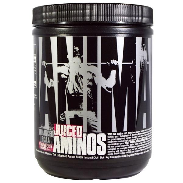 Animal Juiced Aminos, клубничный лаймад, 358г