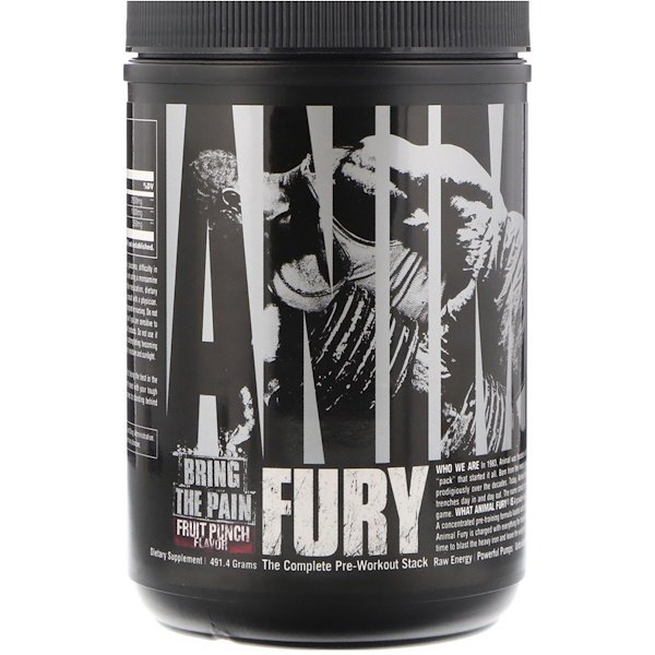 Animal Fury, Fruit Punch, 491.4 g