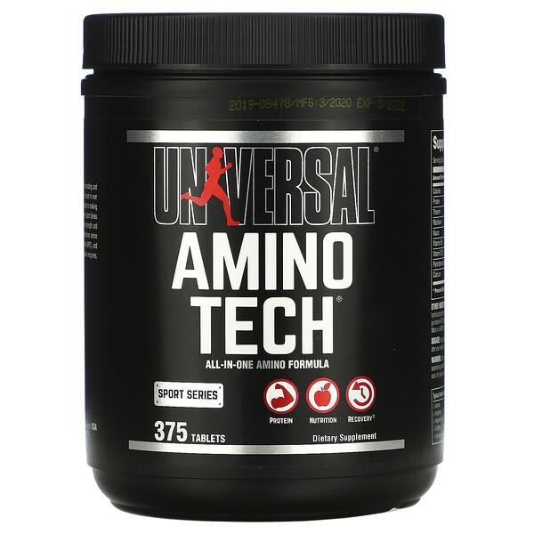 Amino Tech, универсальная формула с аминокислотами, 375таблеток
