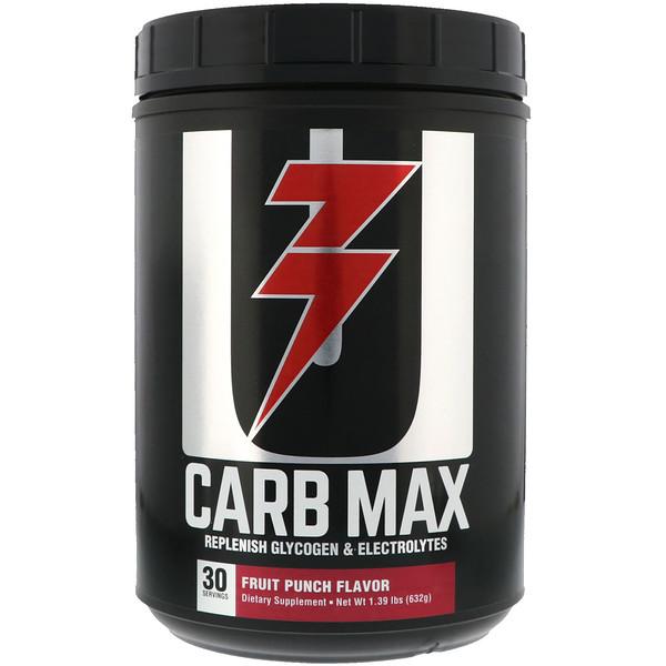 Carb Max, Replemish Glycogen & Electrolytes, Fruit Punch, 1.39 lb (632 g)
