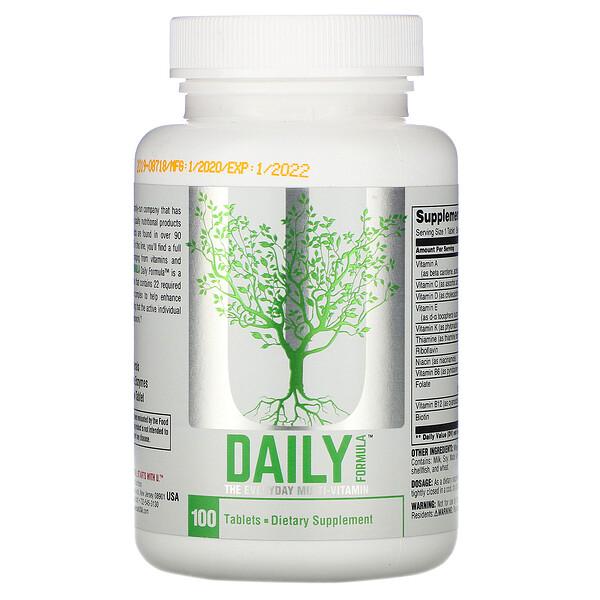Daily Formula, мультивитамин для приема каждый день, 100 таблеток