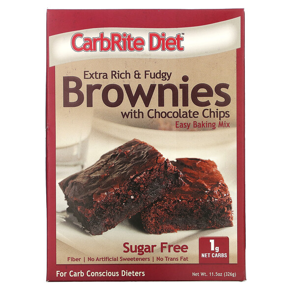 Universal Nutrition, CarbRite Diet, Extra Rich & Fudgy Brownies with Chocolate Chips, 11.5 oz (326 g)