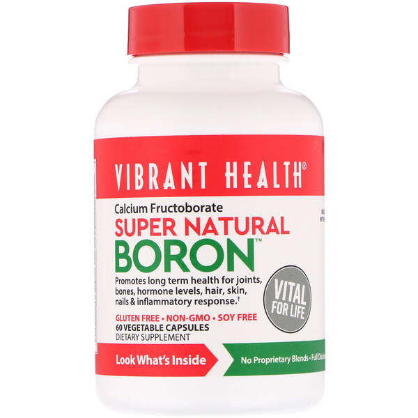 Super Natural Boron, 60растительных капсул