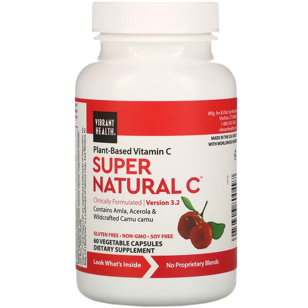 Super Natural C, Version 3.2, 60 Vegetable Capsules