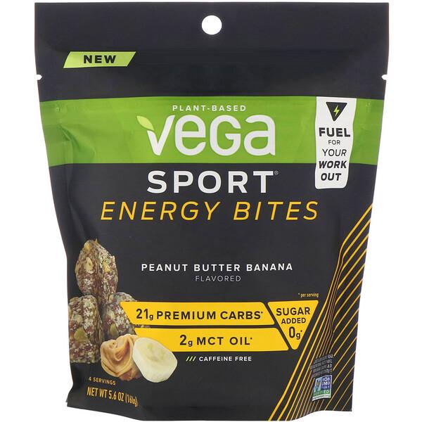 Vega, Sport, Energy Bites, Peanut Butter Banana, 5.6 oz (160 g) (Discontinued Item)