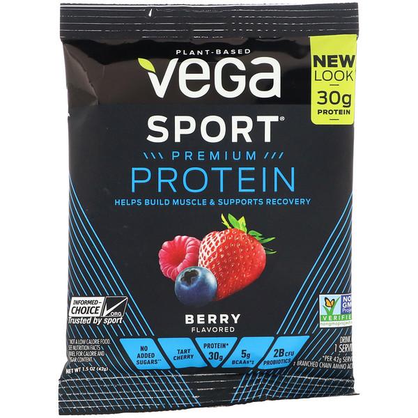 Sport Premium Protein, Berry, 1.5 oz (42 g)