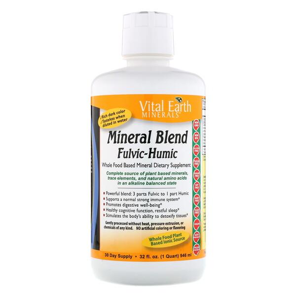 Vital Earth Minerals, Смесь фульвовых и гуминовых минералов, 32 жидкие унции (946 мл)