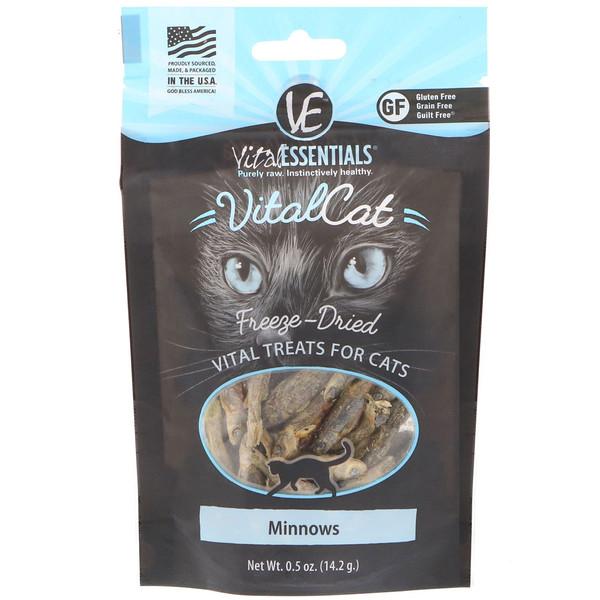 Vital Cat, высушенное сублимацией лакомство для кошек, пескарь, 0,5 унц. (14,2 г)