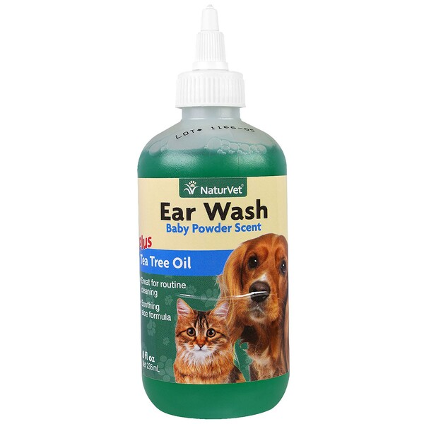 Средства для чистки ушей с маслом чайного дерева, с запахом детской присыпки, 236мл (8 жидк.унций)
