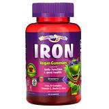 Carlson Labs, Детские жевательные таблетки с железом, натуральный клубничный ароматизатор, 15 мг, 60 таблеток - iHerb