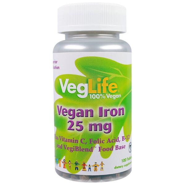 Железо растительного происхождения, 25 мг, 100 таблеток