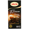 Valor, Dark Chocolate, 70% Cacao, With Caramel and Sea Salt, 3.5 oz (100 g)