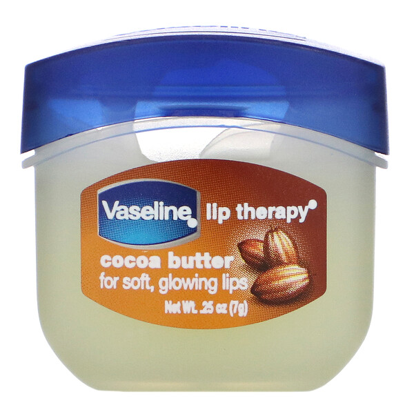 Vaseline, Lip Therapy, Cocoa Butter, 0.25 oz (7 g)