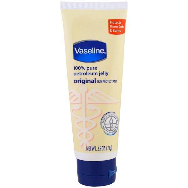 Vaseline, 100% чистый вазелин, оригинальное защитное средство для кожи, 2,5 унции (71 г) (Discontinued Item)