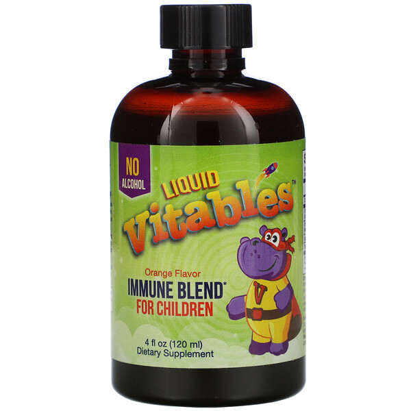 Детская жидкая добавка для укрепления иммунитета, без спирта, со вкусом апельсина, 120мл (4жидк.унции)