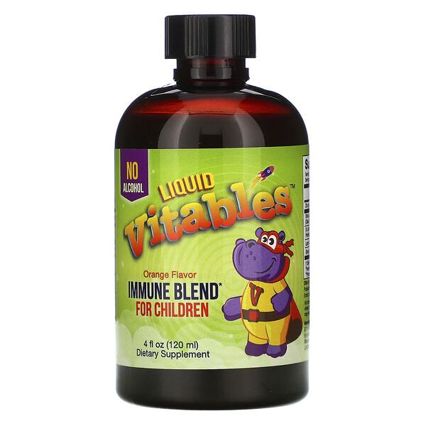 Vitables, Детская жидкая добавка для укрепления иммунитета, без спирта, апельсиновый вкус, 120мл (4жидк.унции)