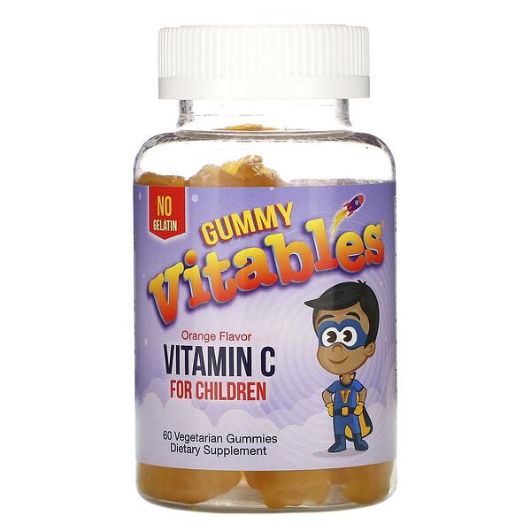 Vitables, жевательный витаминC для детей, апельсиновый вкус, 60вегетарианских жевательных конфет