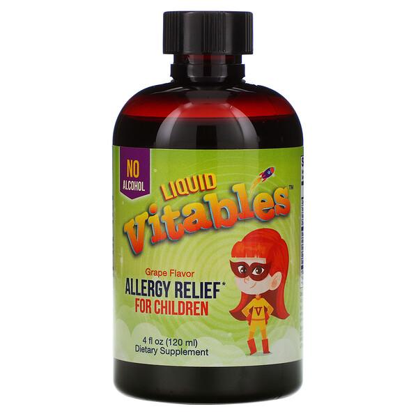 Детская жидкая противоаллергическая добавка, без спирта, со вкусом винограда, 120мл (4жидк.унции)