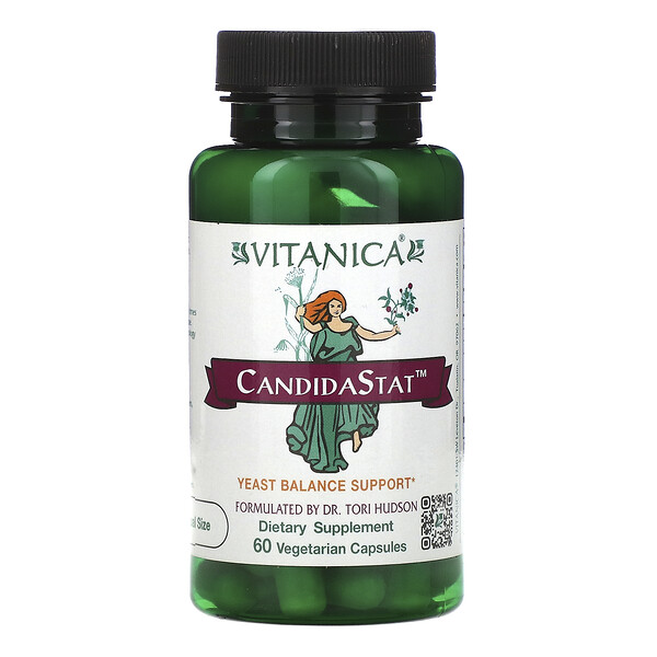 CandidaStat, Yeast Balance Support, 60 Vegetarian Capsules