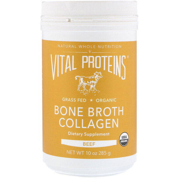Vital Proteins, Коллаген из костного бульона, говядина, 285г (10унций)