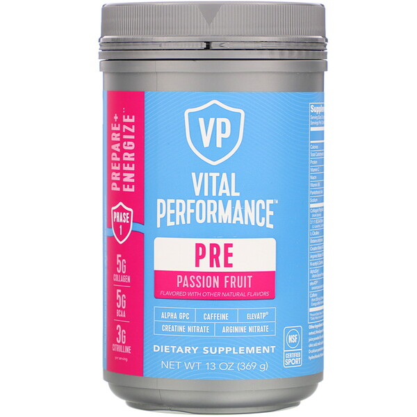 Performance, PreWave, натуральная маракуйя, 369г (13унций)