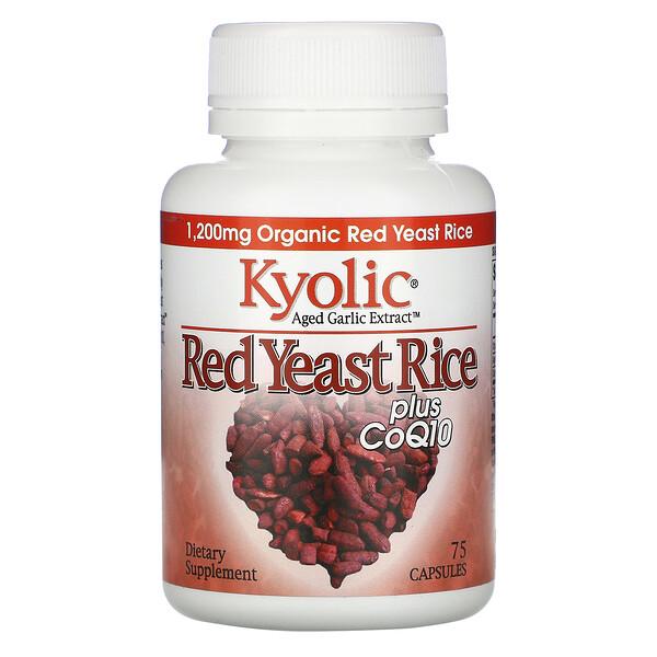 Экстракт выдержанного чеснока, красный ферментированный рис, с CoQ10, 75 капсул
