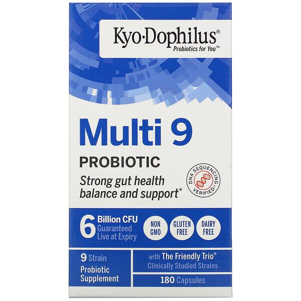 Kyo-Dophilus, Multi 9 Probiotic, 6 Billion CFU, 180 Capsules