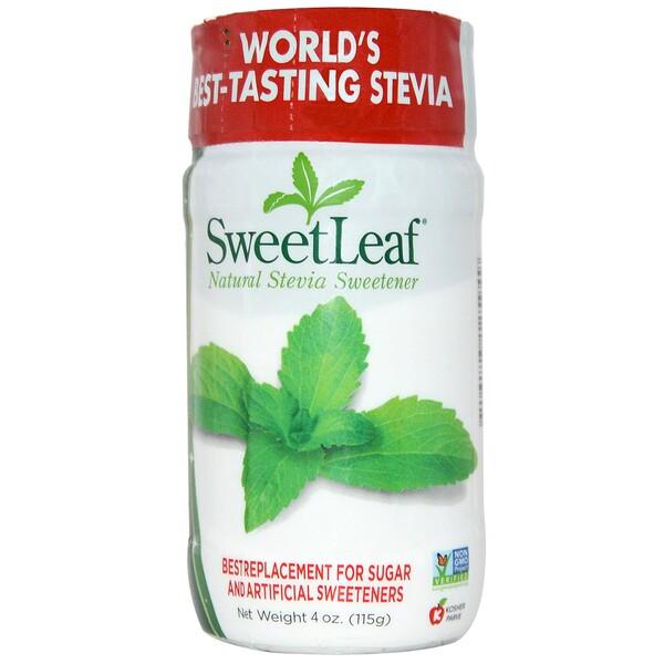 SweetLeaf, натуральный подсластитель из стевии, 115 г (4 унции)